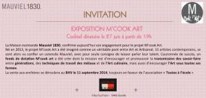 invitation m cook art chaon